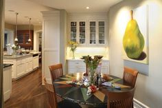Becker Architects Limited via houzz,  pear by carmelo sortino, http://carmelosortino.com/gallery/fruit_paintings/