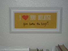 I need to make this so I will constantly be reminded to thank my husband...I'm not good at remembering to do that!!