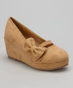 Love this Nude Jesse Bow Wedge by Ruby Shoes on #zulily! #zulilyfinds