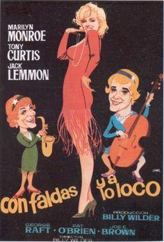 DVD CINE 28 - Con faldas y a lo loco/ Some like it hot (1959) EEUU. Dir: Billy Wilder. Sinopse: Joe e Jerry son dous músicos que ven obrigados a fuxir despois de ser testemuñas dun axuste de contas en tempos da lei seca. Deciden vestirse de mulleres para tocar nunha orquestra. Joe pronto asumirá un dobre rol, ademais de muller finxe ser magnate para conquistar a Sugar Kane.