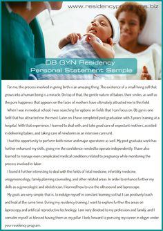 good-ob-gyn-residency-personal-statement Residency Programs, Pure Happiness, Med Student, Pure Products, Writing, Feelings, Happy, A Letter, Writing Process