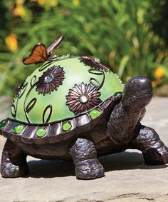 Take A Look At This Turtle Jeweled Figurine By Evergreen On #zulily Today! Garden  StatuesGarden ...