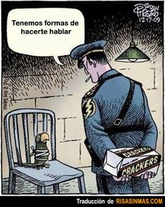 Spanish jokes for kids, chistes infantiles: Tenemos formas de hacerte hablar.