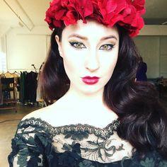 #selfie #redlips #flowercrown #lace #porcelain #lulaverse #hashtag by robynadeleofficial