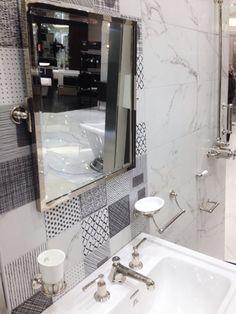 Stonemarble White 15x15 dekormiks satin Marrakech, Satin, Mirror, Bathroom, Furniture, Home Decor, Washroom, Homemade Home Decor, Elastic Satin
