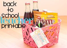 Back to School Teacher Printable, a perfect gift for your child's new teacher!