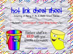 Making It As A Middle School Teacher: Tech Tip Tuesday ~ HTML for a Hot Link Tutorial