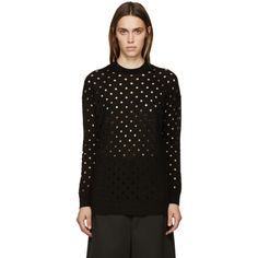McQ Alexander Mcqueen - Black Perforated Sweater