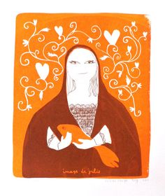 Silkscreen Poisson d'Or from Image de Julie