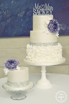 Metallic Wedding Cake ~ by Cotton and Crumbs