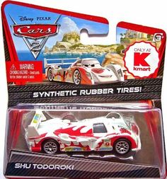 Disney / Pixar CARS 2 Movie Exclusive 155 Die Cast Car with Synthetic Rubber Tires Shu Todoroki by Mattel Toys.