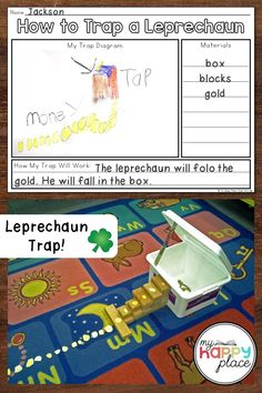 Planning and building leprechaun traps in class with kindergarten and first grade students can be a simple and engaging St. Kindergarten Social Studies, Kindergarten Activities, Teaching Themes, Teaching Resources, Leprechaun Trap, Class Activities, Arts And Crafts Supplies, Student Work, Critical Thinking