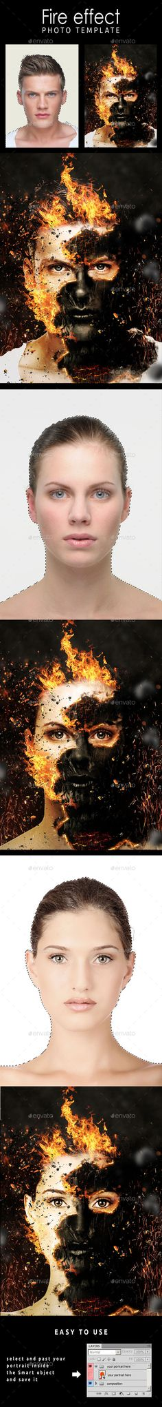 Fire Effect Photo Template #design Download: http://graphicriver.net/item/fire-effect-photo-template/11108155?ref=ksioks