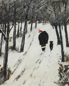 Gary Bunt - A Winter's Day A Winter's Day A Winter's Chill A Man A Dog A Walk up the hill They make their way Through fresh deep snow Soon be Home Not far to go