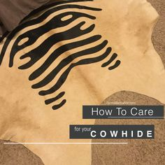 How to Care for a Cowhide Interior Stylist, Nature Decor, Leather Craft, Animal Print Rug, Decor Styles, Home Accessories, Decorating, Image, Decor