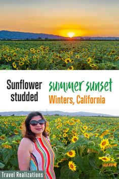 I visited Winters in California in July, one late afternoon to witness a sunflower studded summer sunset. Needless to say, every picture that I captured through my camera is like poetry in a frame. If you live in and around the San Francisco Bay Area, then these fields of blooming sunflowers in Winters are a must-see. #Sunflowerfields #California #Sunflowers #Winters #YoloCounty #visitcalifornia #sunflower #summer #wheregoodtimesgrow Honeymoon Destinations, Amazing Destinations, Canada Travel, Usa Travel, Travel Guides, Travel Tips, Places To Travel, Places To Go, San Diego Travel