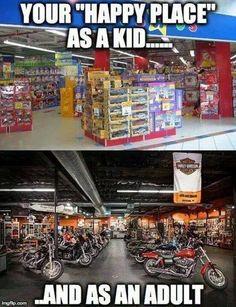 Like a kid in a candy store! #chopperexchange #bikerlife #motorcycle #harley #bikerhumor