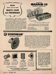 QUAD And Stentorian Ad 1954