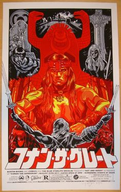 """2011 """"Conan The Barbarian"""" - Movie Poster by Tim Doyle"""