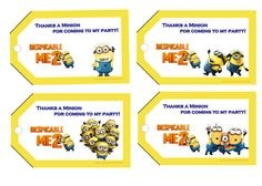 Despicable Me 2 Birthday Gift Tags  $2.99 available at www.partyexpressinvitations.com