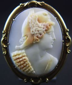 Rare Victorian Cameo Brooch of Perseus