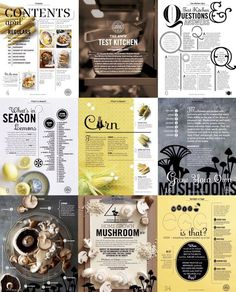 Inspiration- Editorial design that incorporates food Editorial Design Layouts, Magazine Layout Design, Food Magazine Layout, Web Design, Creative Design, Print Design, Design Brochure, Branding Design, Dm Poster
