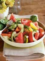 Tomato, Watermelon, and Cucumber Salad