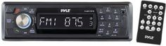 pyle - marine single-din in-dash mechless receiver with detachable face & bluetooth(R) (black)