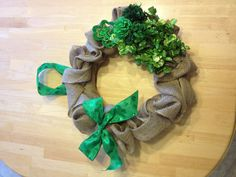 St. Patrick's day wreath.