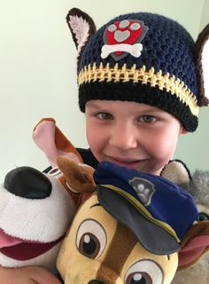A personal favourite from my Etsy shop https://www.etsy.com/uk/listing/477949373/paw-patrol-beanie-chase