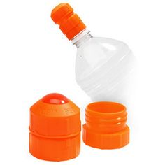 The Pet Top Portable Drinking Device - Dogs can drink from any water bottle. Adjustable according to size of dog.