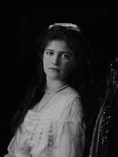 "Grand Duchess Maria Nikolaevna Romanova of Russia,the third daughter of Tsar Nicholas II of Russia. ""AL"""