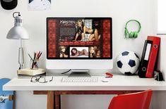 Realistic Mockup PC #mockup #pc #roomdesign