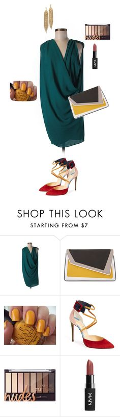 """""""Teal dress"""" by ulusia-1 ❤ liked on Polyvore featuring âme moi, OPI, Christian Louboutin and Capwell + Co"""