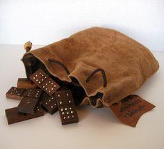 Handmade Black Walnut Dominoes