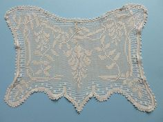 SET OF 4 VINTAGE MARY CARD CROCHET PLACE MATS IN  THE WISTERIA  DESIGN- Chart 65