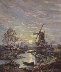 Dutch Windmill Antique Print  http://stores.ebay.com/Vintage-Art-Prints-And-Antique-Maps