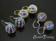 Silver Earrings golden drops gold filled glass beads golden dangle earrings teardrops by donauluft