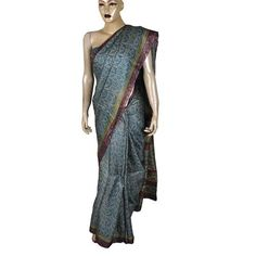 100% Chiffon SilkIndian silk saree (without any accessory like blouse and peticoat)Fabric Length: 216 inches (5.5 meters) Breadth: 43.2 inches(1.1 meters)Handmade by silk weavers of Benaras in India.Suitable as evening wear and casual dress.This Item can b...
