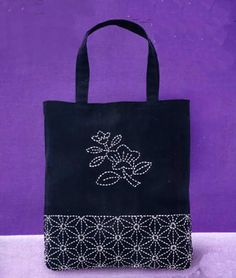 Sashiko Tote Kit Japanese Traditional Stitching/Quilting from