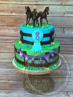Horse theme birthday cake