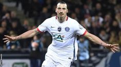 Zlatan Ibrahimovic's superb second-half goal gave PSG a win over Lorient on Tuesday and sent Laurent Blanc's men into the final of the Coupe de France Psg, Hatem Ben Arfa, French League, Mario, Free Agent, Finals, Two By Two, Soccer, Football
