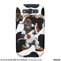 Do Cows Drink Milk Cow With Milk Bottle Galaxy S3 Case