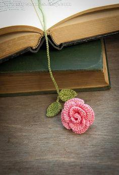 Handmade Crochet Rose Bookmark Crochet Flower