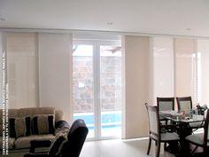 Cortina panel japonés para salón comedor o cualquier ambiente que precise de protección solar en el interior