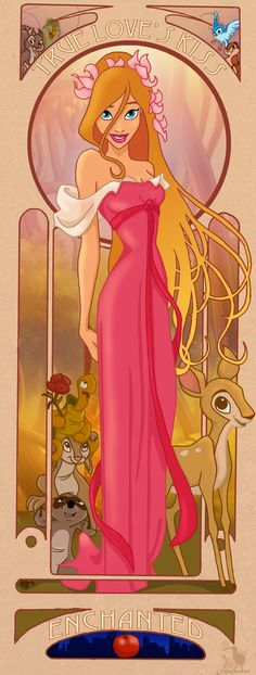 Ideas Art Nouveau Disney Princesses Fairy Tales For 2019 Enchanted Movie, Giselle Enchanted, Disney Enchanted, Disney And Dreamworks, Disney Pixar, Disney Characters, Disney Style, Disney Love, Aladdin
