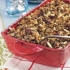 Wild Rice Stuffing | MyRecipes.com. Perhaps omit the dates...