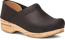 The classic professional women's clog in Black Oiled Leather.