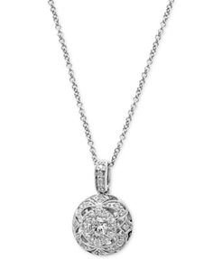 d3512046f943 EFFY Diamond Circle Pendant Necklace (3 8 ct. t.w.) in 14k White Gold  Jewelry   Watches - Necklaces - Macy s