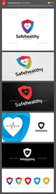 Safe Healthy Logo Template AI Illustrator. Download here: https://graphicriver.net/item/safe-healthy-ldgd/17676379?ref=ksioks